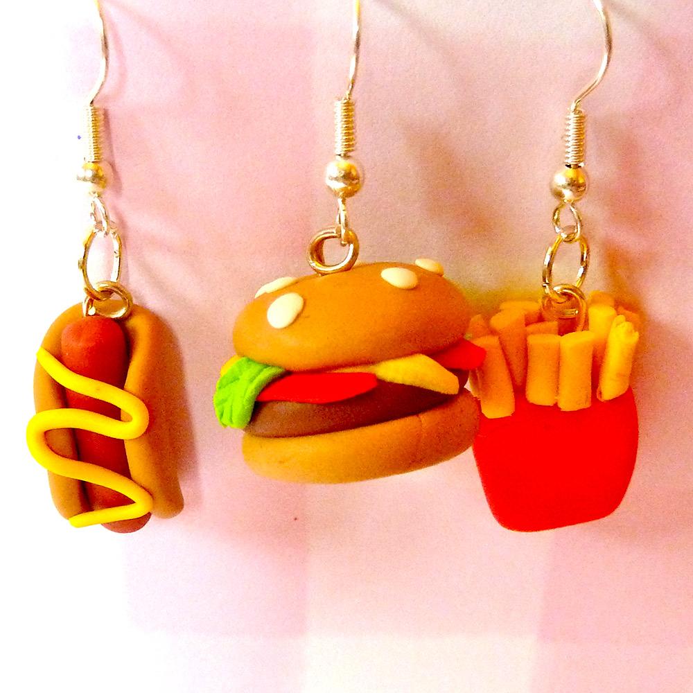 Tip Top Jewellery: Fast Food Earrings