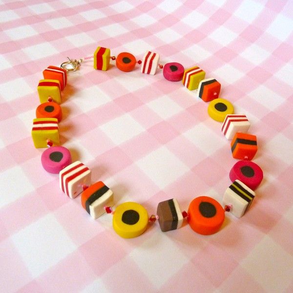 Liquorice Allsorts Bead Necklace