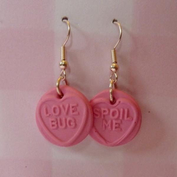 Love Heart Dangly Earrings